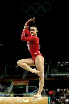 Lauren Hernandez of the United States competes in the Balance Beam Final on day 10 of the Rio 2016 Olympic Games at Rio Olympic Arena on August 2016 in Rio de Janeiro, Brazil. (Photo by Lars Baron/Getty Images) Gymnastics Facts, Gymnastics Images, Olympic Gymnastics, Gymnastics Girls, Gymnastics Posters, Amazing Gymnastics, Rhythmic Gymnastics, Usa Olympics, Rio Olympics 2016