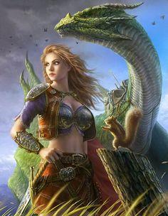 Artist: Unknown - Title: Unknown - Card: Cassandre the Dragonrider