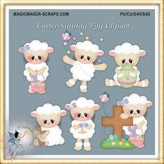 Easter Clipart Lamb and Lily by MagicmakerScraps on Etsy Clipart, Free Adult Coloring, Calendar Stickers, Checkbook Cover, Mural Wall Art, Paint Shop, Blog Design, Photoshop Elements, Print And Cut