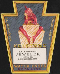 Keystone, clocks, jewelry, watch cases, repairing [front]   por Boston Public…
