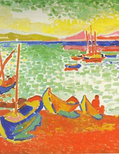 andre derain bateaux dans le port de collioure 1905. Black Bedroom Furniture Sets. Home Design Ideas