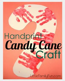 Little Family Fun: Handprint Candy Cane Craft