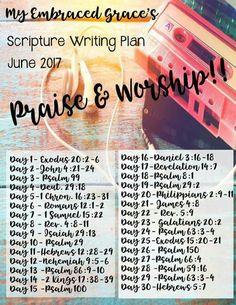 Scripture Writing Plan - Praise and Worship