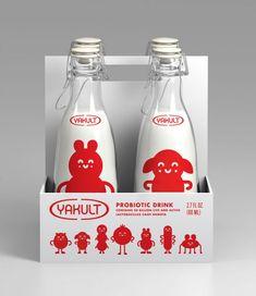 Milk Packaging, Beverage Packaging, Bottle Packaging, Pretty Packaging, Brand Packaging, Packaging Design, Branding Design, Design Package, Label Design