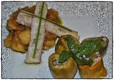 VINO, GASTRONOMIA Y VIAJES (Entre Fogones y Gin Tonics): Anguila ahumada sobre chutney de manzana, y alcach...