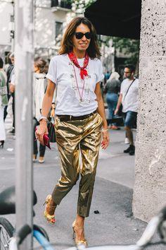 Metallic pants and a bandana | @missjessicanne — don't let your dreams be dreams xxx