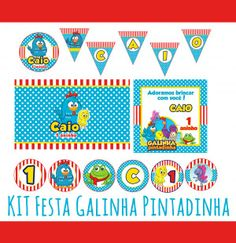 Recorte de Papel - Festa Galinha Pintadinha - 5 artes