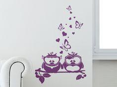 Süße Eulchen als Wandaufkleber fürs Kinderzimmer.