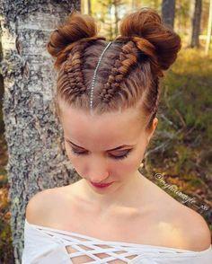 53 Box Braids Hairstyles That Rock - Hairstyles Trends Easy Hairstyles For Long Hair, Braids For Short Hair, Braided Hairstyles, Cool Hairstyles, Viking Hairstyles, Braids For Kids, Black Braids, Competition Hair, Natural Hair Styles