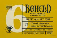 Boheld Font Collection by Graptail on @creativemarket Handwritten Fonts, Typography Fonts, Lettering, Font Maker, Open Type, Retro Font, Character Map, Create Words, Social Media Logos