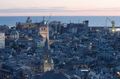 Genoa at sunset - http://www.zonzofox.com/genova/what-to-see/