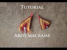 aros en macrame modelo 24 | aros de hilo | earrings macrame - YouTube