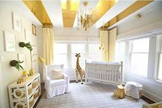 Top 10 Nursery Design Trends of 2015 | All that glitters IS gold with this nursery room trend! The possibilities are endless when it comes to incorporating the metallic hue into baby's room.