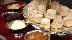 Scones with a lovely selection of toppings!