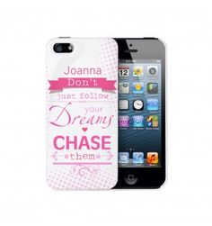 Dream Chaser iPhone 5 Case   iPhone   Exclusively Personal Cool Gifts, Unique Gifts, Personalized Gifts For Her, Dream Chaser, Phone Cover, Gifts For Women, Iphone Cases, Accessories, Presents