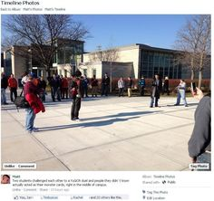 """""""Two students challenged each other to a YuGiOh duel and people they didn't know actually acted as their monster cards, right in the middle of campus."""" - If that isn't some awesome geekiness right there, I don't know what is."""
