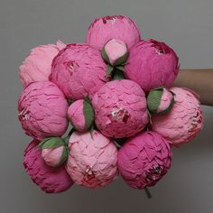 flores de papel peonias flores de la boda por FlowerDecoration