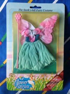 Vintage Hornby Flower Fairies STORK's BILL pink by LittleToyLost