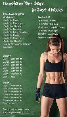 5 einfache Übungen, die Ihren Körper in nur 4 Wochen verwandeln, #einfache #ihren #korper #ubungen #verwandeln #wochen