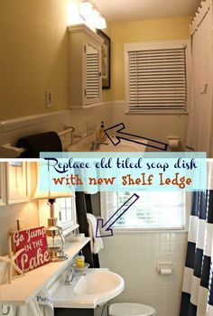 Beautiful bathroom makeover ideas from southern state of mind: {Before and After} Big Splash for a Pint-Sized Bath
