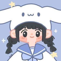 Cute Little Drawings, Cute Cartoon Drawings, Cute Kawaii Drawings, Cartoon Icons, Cartoon Art Styles, Girl Cartoon, Cute Doodle Art, Cute Doodles, Cute Art