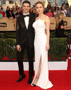 Brie Larson was all smiles on the red carpet with fiancé Alex Greenwald, who is is best known as the lead singer of the California rock band 'Phantom Planet'