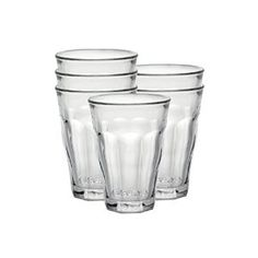 Amazon.com | Duralex Picardie 12 oz. Clear Tumbler, Set of 6: Drinking Glasses: Tumblers