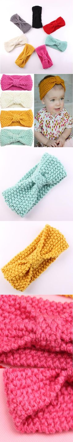 Crochet baby headband winter baby wear Ear warmer Toddler fashion baby turban knitted headband