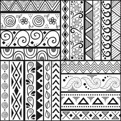 Cool patterns to draw, easy designs to draw, easy drawing patterns, easy ma Dessin Design Simple, Simple Designs To Draw, Easy Patterns To Draw, Simple Flower Design, Doodle Patterns, Zentangle Patterns, Zentangles, Art Patterns, Flower Designs