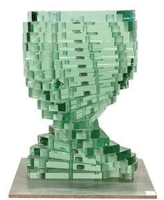 Luciano Vistosi, Murano hand blown glass sculpture.