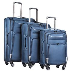 Cabin Luggage, Luggage Sets, Travel Luggage, Leather Luggage, Softshell,  Suitcases, Family Vacations, 3 Piece, Baggage