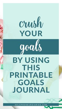 Do you want to accomplish more in your business? This Goals Journal will help you plan your business goals for the year and grow your business. You'll learn how to set goals and hold yourself accountable. You'll find journal prompts and journaling ideas to help you stay motivated.