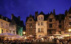 Potential day trip from Paris: hours away via train: Place Plumereau, city of Tours, in the Loire Valley, France. Great people watching in a beautiful city. France City, Tours France, South Of France, Tours Loire Valley, Loire Valley France, Places Around The World, The Places Youll Go, Places To Go, Around The Worlds