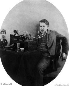 © Photoglobus, Ullstein Bild, Thomas Alva Edison, Erfinder der Glühlampe   1889