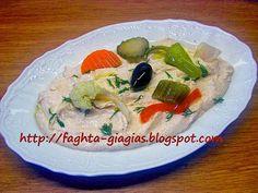 Ταραμοσαλάτα με άσπρο ή κόκκινο ταραμά Greek Recipes, Dip Recipes, Cooking Recipes, Salad Bar, Mediterranean Recipes, Tasty Dishes, Seafood, Dips, Ethnic Recipes