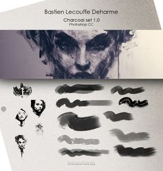 DEHARME / Charcoal set v1.0 / Photoshop CC by Deharme.deviantart.com on @deviantART