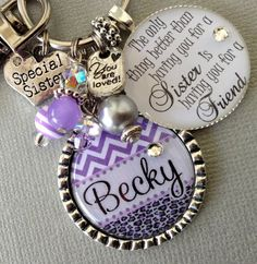 Sister gift PERSONALIZED Necklace CHEVRON charm by buttonit