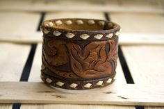 mens western cuff   Leather Cuff Mens Western Upcylced Wrist Cuff by TheRavensDaughter
