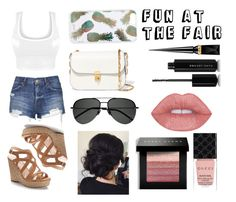 """""""Fun at the Fair"""" by tess384 on Polyvore featuring Topshop, Jennifer Lopez, Sonix, Valentino, Yves Saint Laurent, Christian Louboutin, Marc Jacobs, Bobbi Brown Cosmetics and Gucci"""