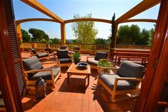 Nice sunny seating area on a terrace