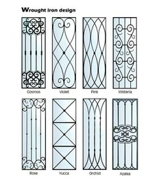 Top 55 Beautiful Grill Design Ideas For Windows - Engineering Discoveries Window Grill Design Modern, Grill Door Design, Gate Design, Window Design, Metal Gates, Wrought Iron Doors, Iron Window Grill, Door Grill, Window Bars