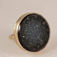 Midnight Drusy Ring  #jewelry
