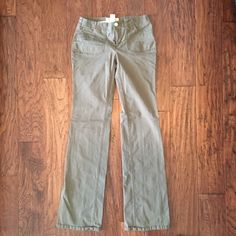 """VS 'The Christie Fit"""" Bootcut Army Green Pants Victoria's Secret """"The Christie Fit"""" army green bootcut pants. London Jean brand. Very good used condition. No longer available. Perfect for work or play! Size 2 Long. Material: 97% cotton, 3% lycra spandex. Measurements: 13"""" across waist lying flat. 33"""" inseam. 7.5"""" rise. Retail $95. ✳️Also listed on other sites so will sell quickly✳️ ❌Trades❌PayPal❌ Victoria's Secret Pants Boot Cut & Flare"""
