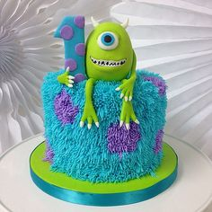 Baby Birthday Cakes, Baby Boy Cakes, Boy Birthday, Celebration Cakes, Birthday Celebration, Cake Frosting Designs, Sully Cake, Monster Inc Cakes, Fondant Toppers