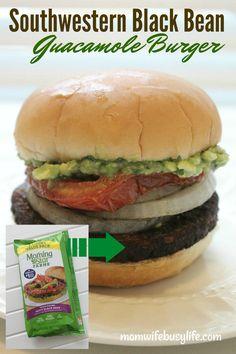#AD Southwestern Black Bean Guacamole Burger #TailgateWithATwist #SeasonalSolutions