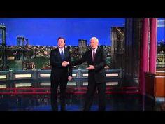 British Prime Minister David Cameron on The Letterman Show.