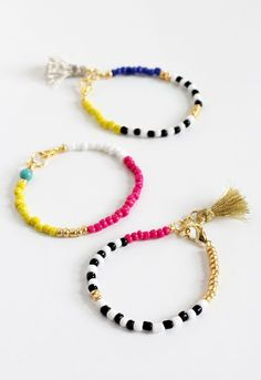 DIY: beaded tassel jewelry