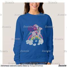 christmas unicorn santa claus sweatshirt Funny Xmas Gifts, Christmas Unicorn, Christmas Card Holders, Ugly Christmas Sweater, Wardrobe Staples, Fitness Models, Santa, Graphic Sweatshirt, Sweatshirts