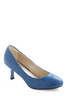 Serpentine Sheen Heel | Mod Retro Vintage Heels | ModCloth.com
