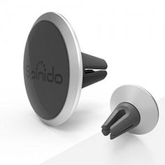 Spinido Universal Air Vent Magnetic Car Mount Holder, for Apple iPhone 6/6s Plus,Samsung S6/S6 Edge and More Devices (TI-Round Silver)
